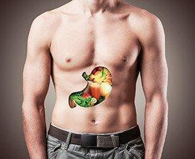 Estômago frutas